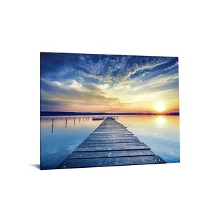 """40x60 Brilliant Tempered Glass """"Peaceful Panorama"""" by Classy Art"""