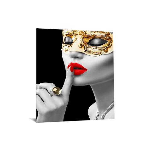 "40x60 Brilliant Tempered Glass ""Secret Masquerade"" by Classy Art"
