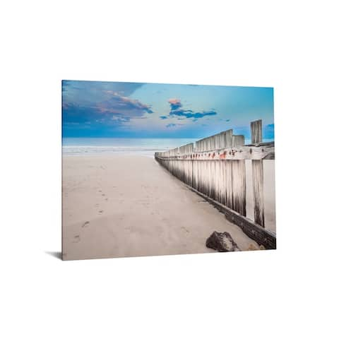 """40x60 Brilliant Tempered Glass """"Beach Sunset"""" by Classy Art"""
