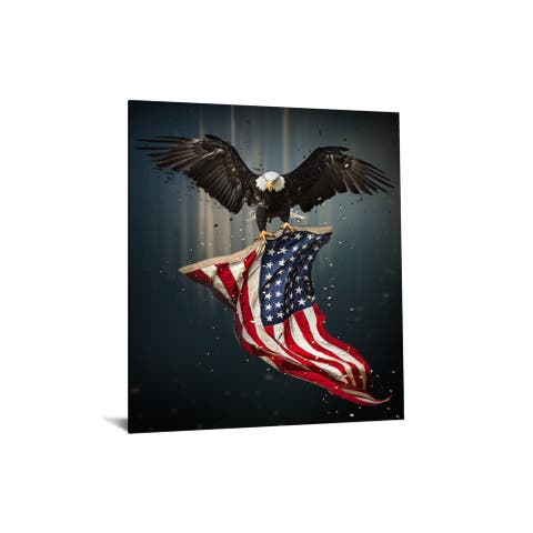 "40x60 Brilliant Tempered Glass ""Patriot"" with Foil by Classy Art"