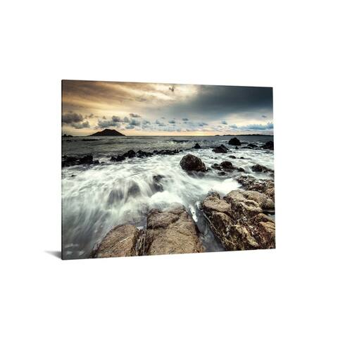 """40x60 Brilliant Tempered Glass """"Breaking Water"""" by Classy Art"""