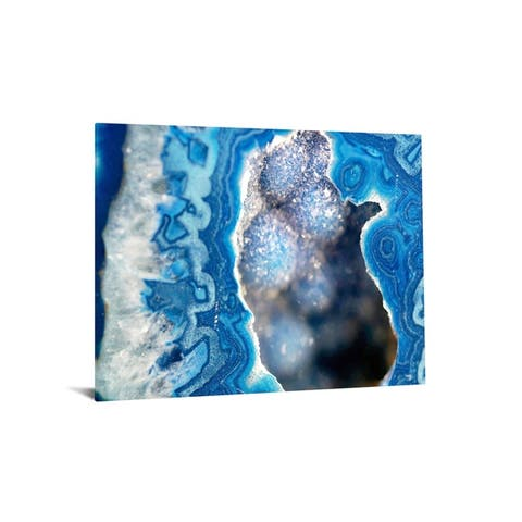 "40x60 Brilliant Tempered Glass ""Blue Quartz II, with Foil"" by Classy Art"