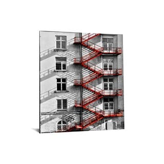 "40x60 Brilliant Tempered Glass ""New York Escape"" by Classy Art"