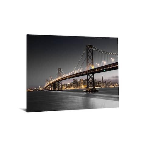 """40x60 Brilliant Tempered Glass """"Bridge Escape"""" by Classy Art"""