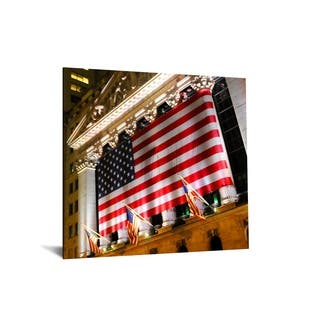 "40x60 Brilliant Tempered Glass ""America"" by Classy Art"