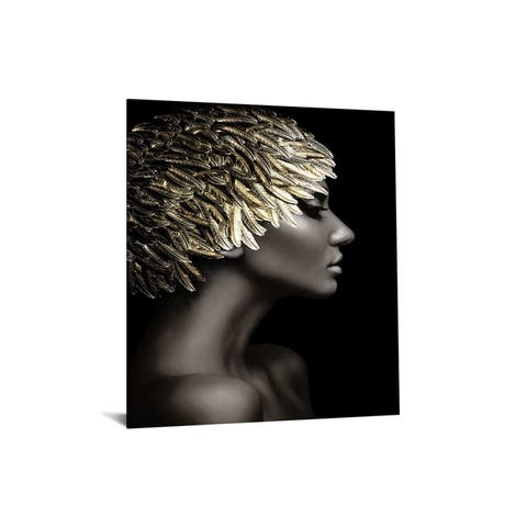 """40x60 Brilliant Tempered Glass """"Golden Hair"""" by Classy Art"""