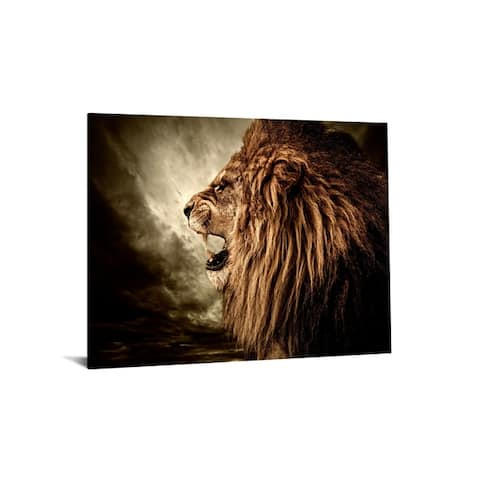 "40x60 Brilliant Tempered Glass ""Hear Me Roar"" by Classy Art"