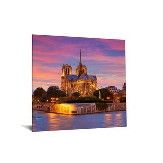 """40x60 Brilliant Tempered Glass """"Cathedral Sunset"""" by Classy Art"""