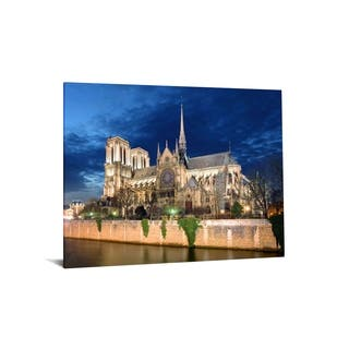 """40x60 Brilliant Tempered Glass """"Evening Cathedral"""" by Classy Art"""