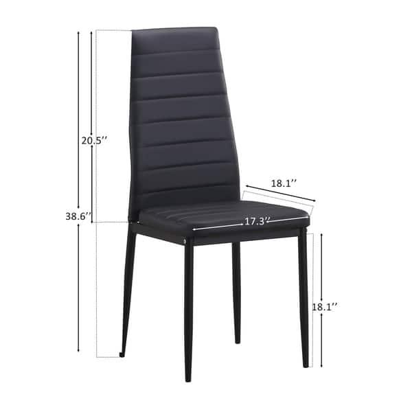 Surprising Shop Harper Bright Designs High Back Pu Leather Dining Creativecarmelina Interior Chair Design Creativecarmelinacom
