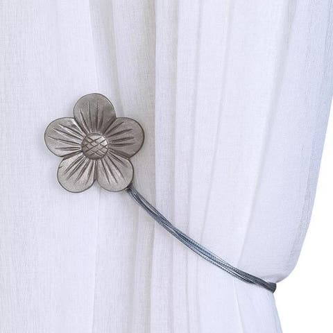 Bad Students Merida Flower Shape Magnetic Curtain Tie backs (Set of 2)