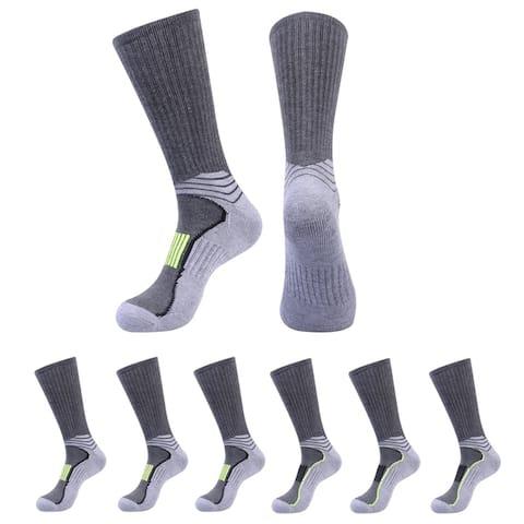 JOYNEE Men's Athletic Crew Socks for Running and Training 6 Pack