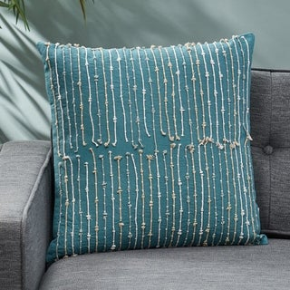 Abeles Blue Cotton Pillow Cover by Christopher Knight Home