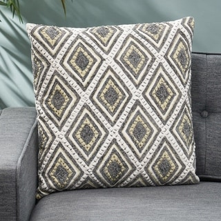 Alneta Cotton Pillow Cover by Christopher Knight Home