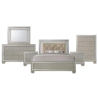 Picket House Furnishings Glamour Panel 6PC Bedroom Set