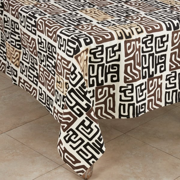 Cotton Kuba Mud Cloth Tablecloth