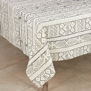 Cotton Mud Cloth Tablecloth