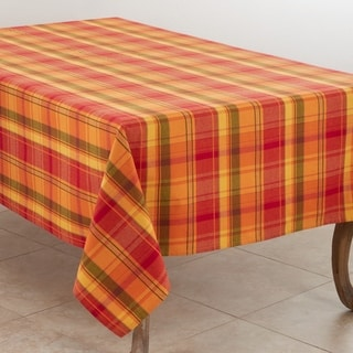 Autumn Plaid Cotton Tablecloth