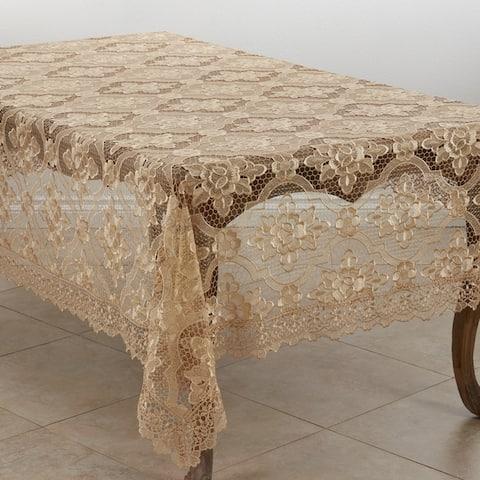 Quatrefoil Vintage Lace Tablecloth