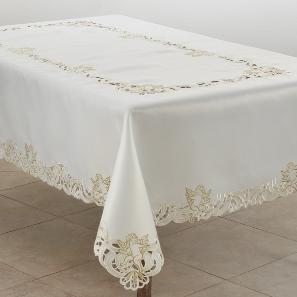 Embroidered Tablecloth with Cupid Design. Opens flyout.