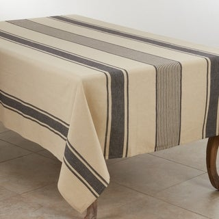 Banded Design Cotton Tablecloth