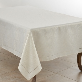 Casual Style Tablecloth With Hemstitched Design