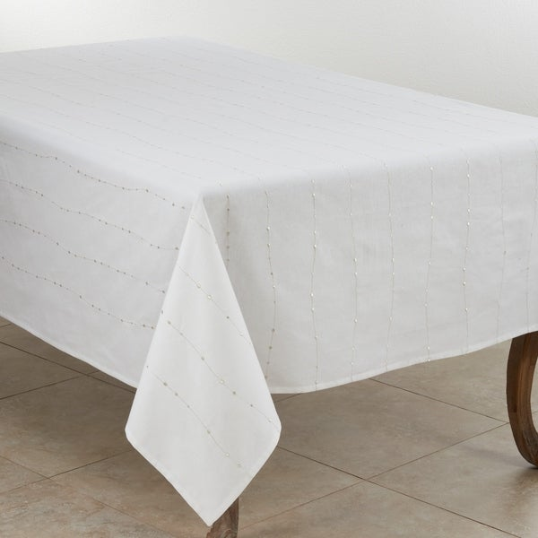 Modern Tablecloth With Embroidered Design