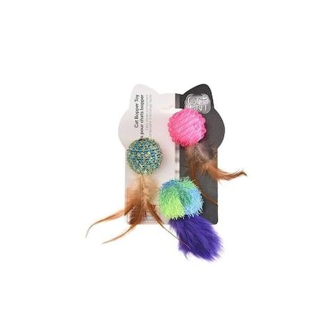 Cat Craft EK QC Bopper Feather Ball Toys- 9 Total - N/A