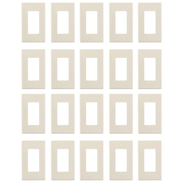 Leviton 80301-ST 1-Gang Decora Plus Wallplate Screwless Snap-On (20Pk) - N/A