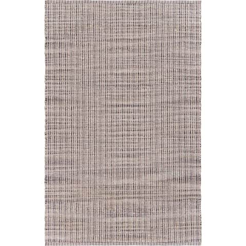 LR Home Coffee Woven Jute Area Rug