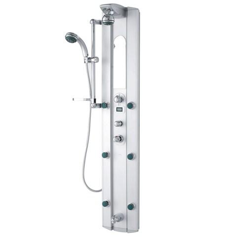 VIGO Palmyra Shower Massage Panel with Digital Thermometer and Spout