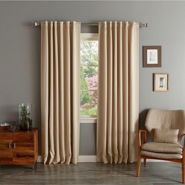 Aurora Home Insulated Thermal Blackout 84-inch Curtain Panel Pair