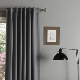 Aurora Home Insulated Thermal Blackout 84 inch Curtain Panel Pair. Grey Window Treatments   Overstock com Shopping   Frame Your Windows