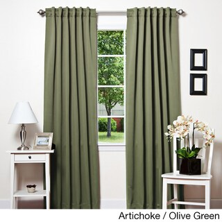 Aurora Home Insulated Thermal Blackout 84-inch Curtain Panel Pair - 52 x 84 (Option: Artichoke/Olive Green)