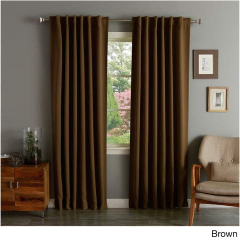 Aurora Home Insulated Thermal Blackout 84-inch Curtain Panel Pair - 52 x 84