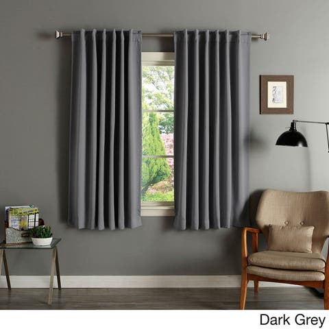 Aurora Home Insulated Thermal 63-inch Blackout Curtain Panel Pair