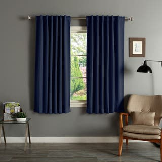 Aurora Home Solid Insulated Thermal 63-inch Blackout Curtain Panel Pair|https://ak1.ostkcdn.com/images/products/2946006/P11109716.jpg?impolicy=medium