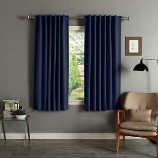 Aurora Home Solid Insulated Thermal 63-inch Blackout Curtain Panel Pair (More options available)