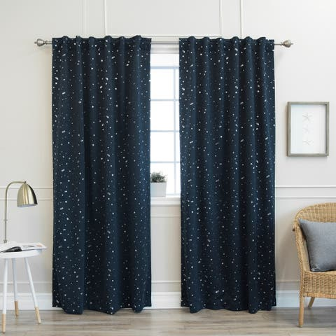 """Aurora Home Star Struck 84""""L Insulated Thermal Blackout Curtain Pair - 52 x 84"""