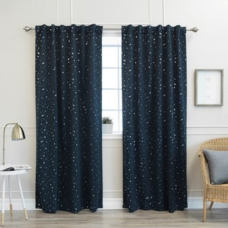 Aurora Home Star Struck 84-inch Insulated Thermal Blackout Curtain Panel Pair - 52 x 84 (2 options available)