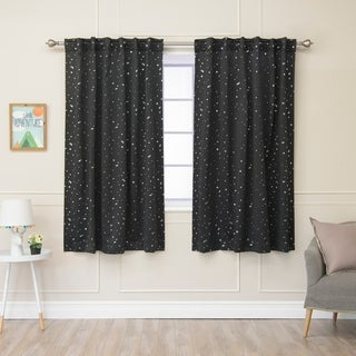 Link to Aurora Home Star Struck Insulated Thermal Blackout 63-inch Curtain Panel Pair - 52 x 63 Similar Items in Curtains & Drapes