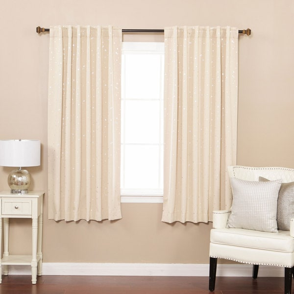 Aurora Home Star Struck Insulated Thermal Blackout 63 inch Curtain Panel  Pair. Aurora Home Star Struck Insulated Thermal Blackout 63 inch Curtain