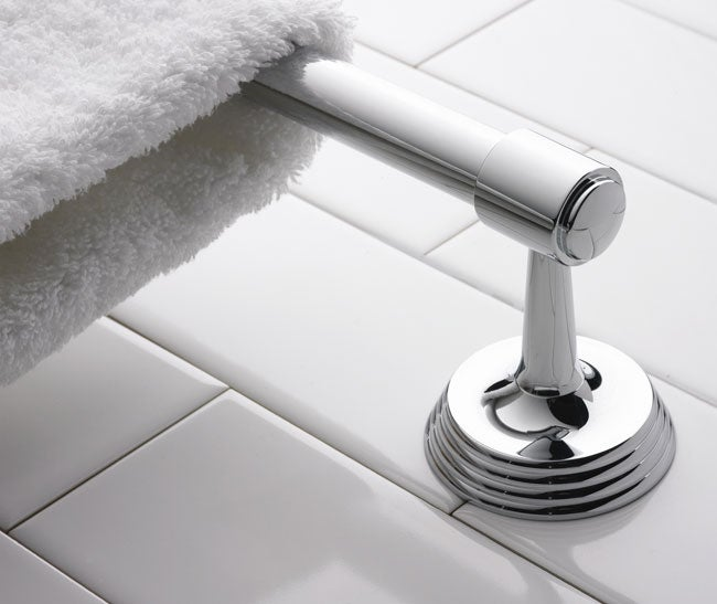 Deco 18-inch Polished Nickel Towel Bar