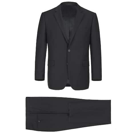 Men's 2-Piece Classic Fit 2 Button Office Dress Suit
