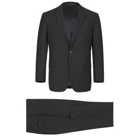Men's 2-Piece Classic Fit 2 Button Office Dress Suit