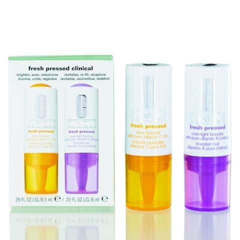 Clinique Fresh Pressed Clinical Daily with Pure Vitamins C 10% & Overnight Boosters with Vitamin A