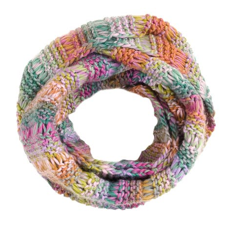 Tickled Pink Color Ombre Knit Infinity