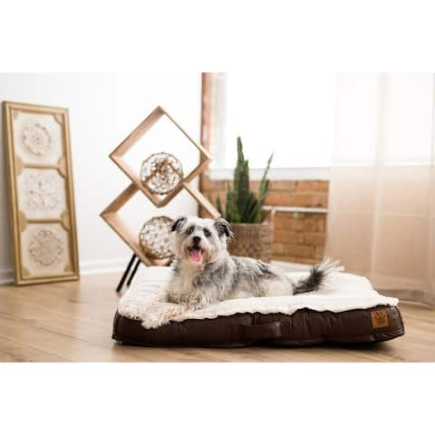 Snoozzy Rustic Luxury Tufted Mattress Dog Bed - 34 X 24 X 4.5