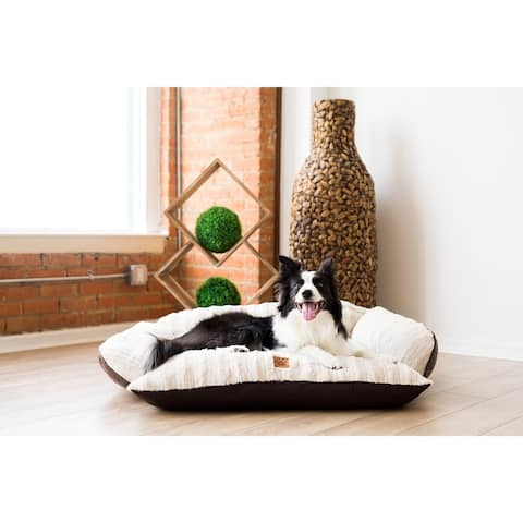 Snoozzy Rustic Luxury Comfy Couch Dog Bed