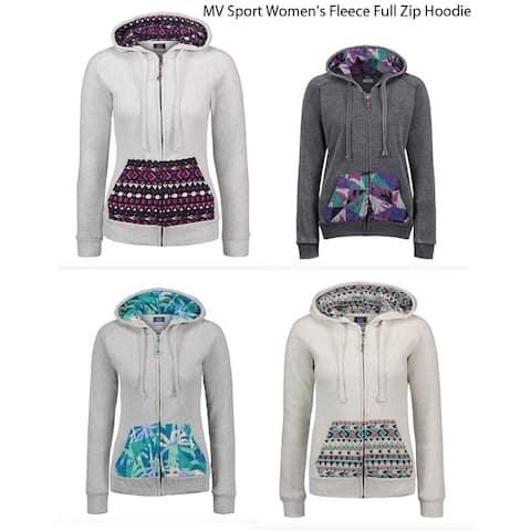MV Sport Womens Fleece Full Zip Hoodie